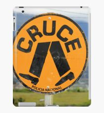 Spanish Crosswalk Sign iPad Case/Skin