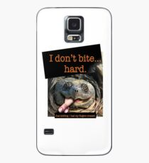 Snapping Turtle - I don't bite hard. Just kidding. I had my fingers crossed. Case/Skin for Samsung Galaxy