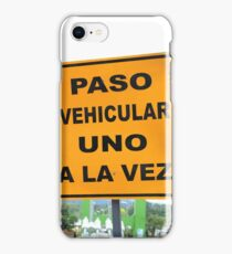 Single Lane Traffic Sign iPhone Case/Skin
