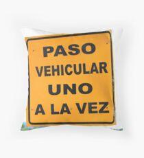 Single Lane Traffic Sign Throw Pillow
