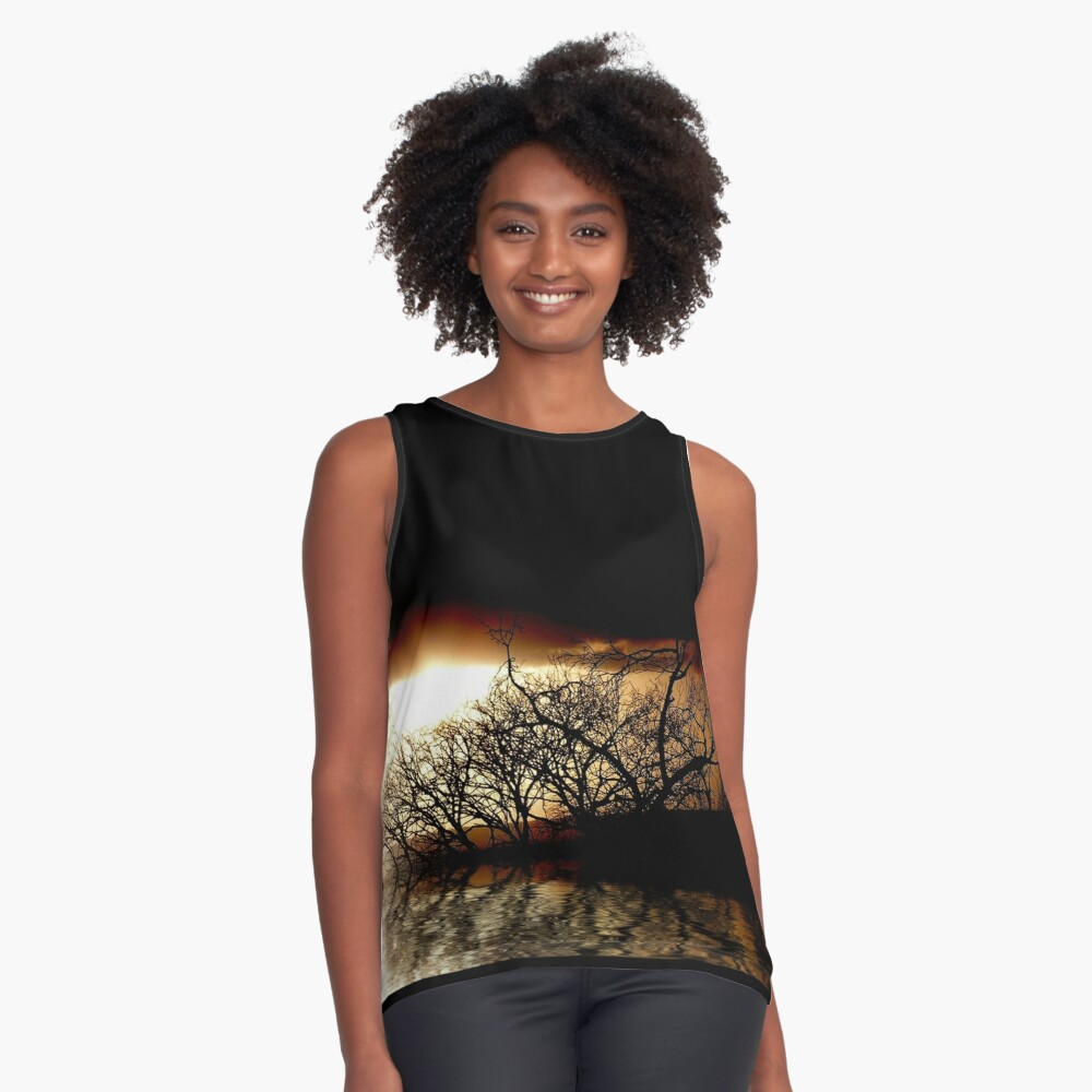 evening shadows Contrast Tank Front