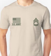 Sergeant First Class Infantry US Army Rank Desert by Mision Militar ™ T-Shirt