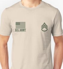 Staff Sergeant Infantry US Army Rank Desert by Mision Militar ™ Unisex T-Shirt