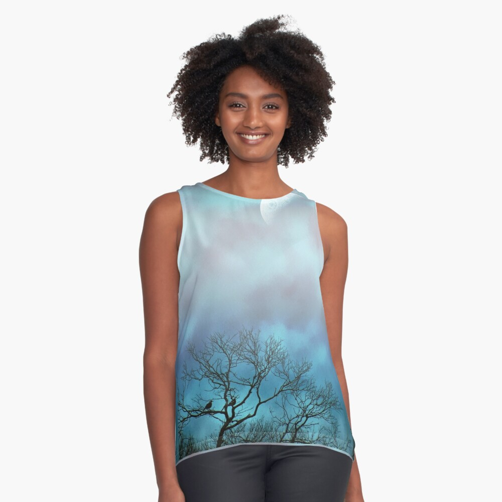 till morning comes.. Contrast Tank Front