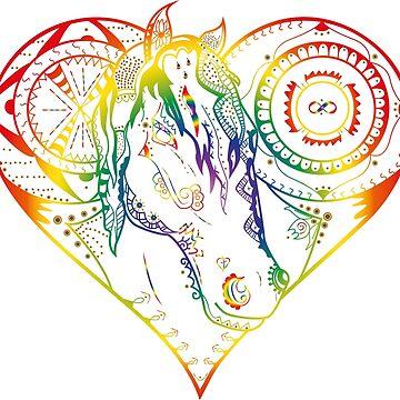 Mandala horse by charzz