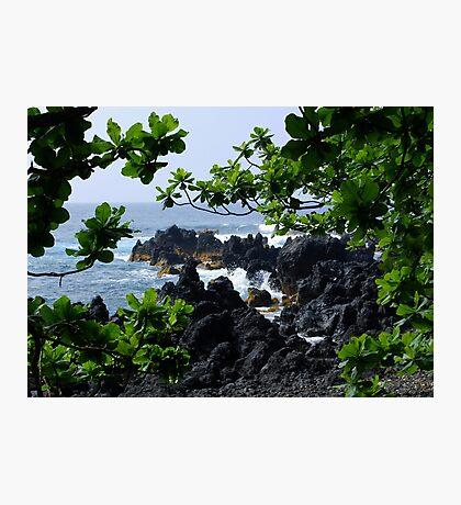 Lava beach in Paradise Photographic Print