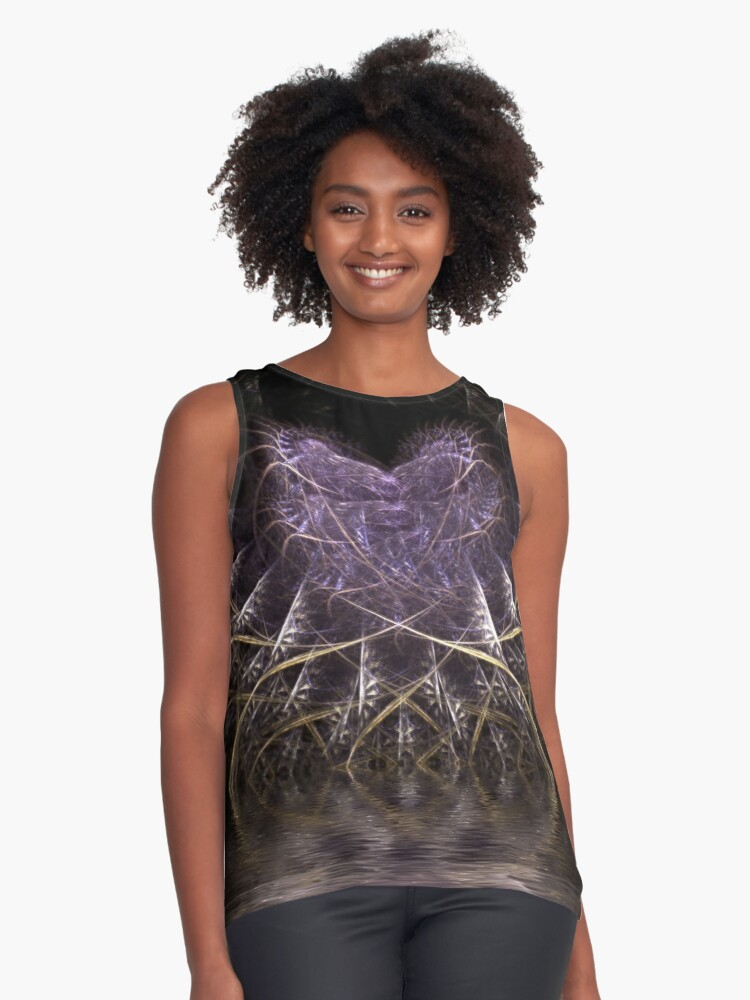 Web of Love Contrast Tank Front