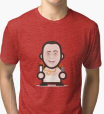 BERLUSCONI ICON SET - MR. POMPETTA Tri-blend T-Shirt