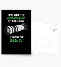 Size of the lens Postcards
