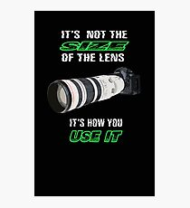 Size of the lens Photographic Print