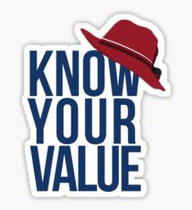 Know Your Value Sticker
