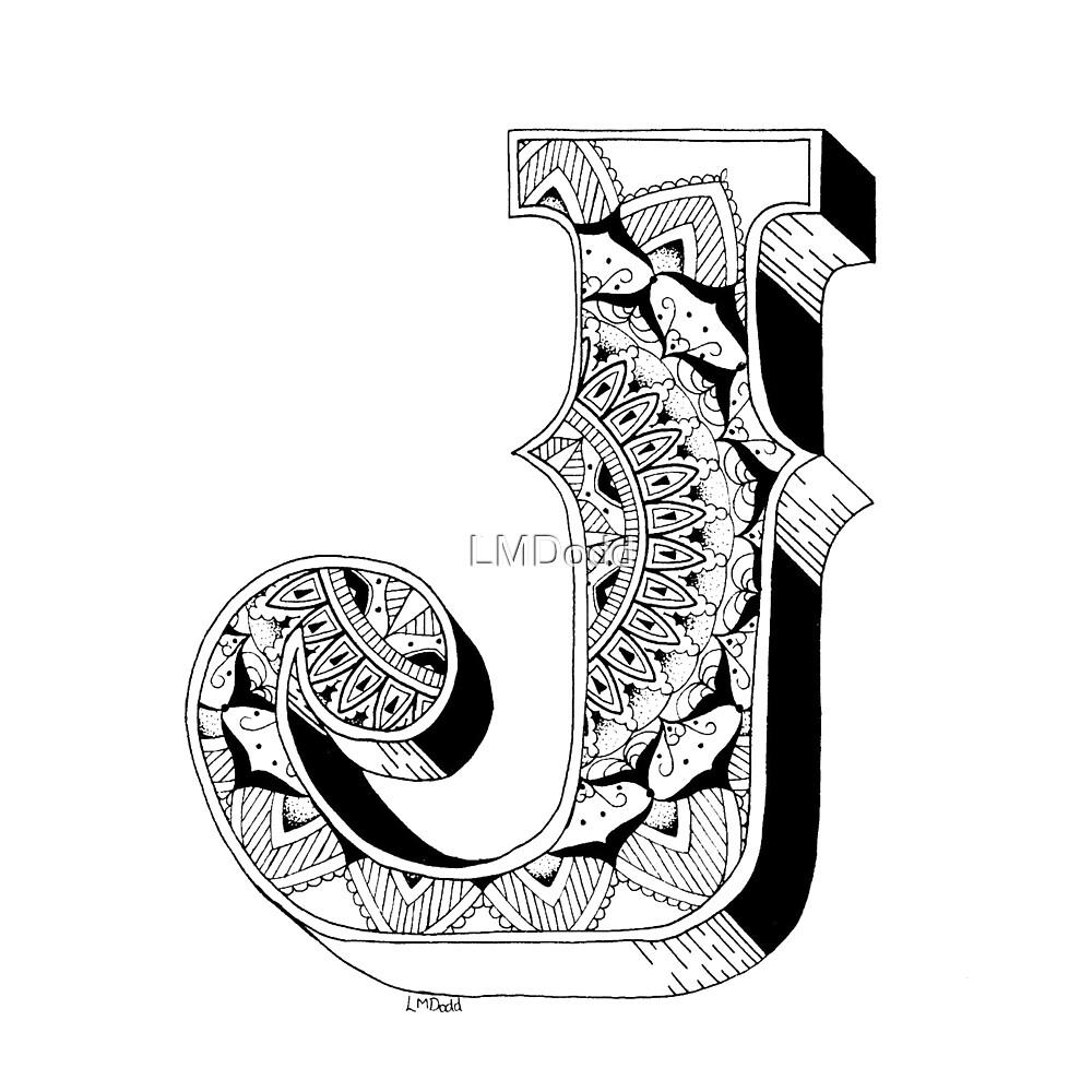 Kleurplaten Mandala Letters.J Mandala N 1 Inside Alphabet N 1 By Lmdodd Redbubble