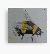 Bumble bee in flight Metal Print