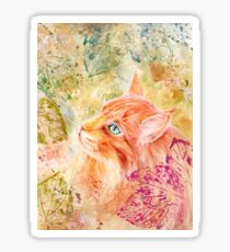Maine Coon Watercolor Sticker