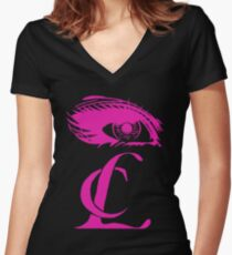 HELLO BI+CHES Women's Fitted V-Neck T-Shirt
