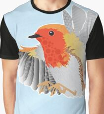 A Beautiful British Robin Graphic T-Shirt