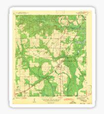 USGS TOPO Map Alabama AL Theodore 305446 1943 Sticker