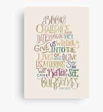 Challenge and Interrogate Canvas Print