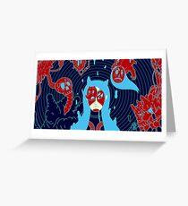 Mask Girl Greeting Card