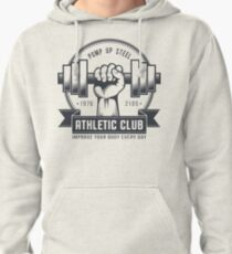 Retro gym logo on a light background Pullover Hoodie