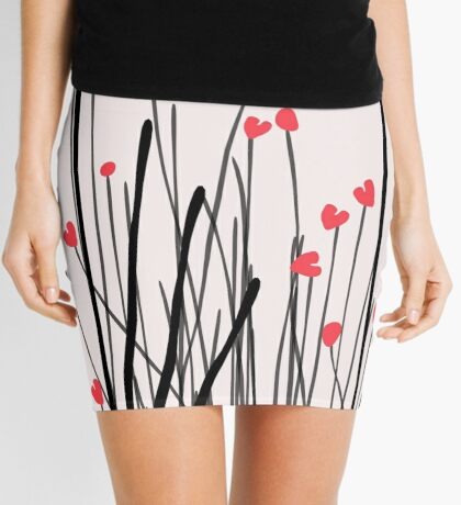 Fox in Shrub Mini Skirt