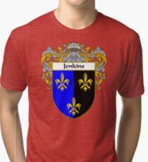 Jenkins Coat of Arms/Family Crest Tri-blend T-Shirt