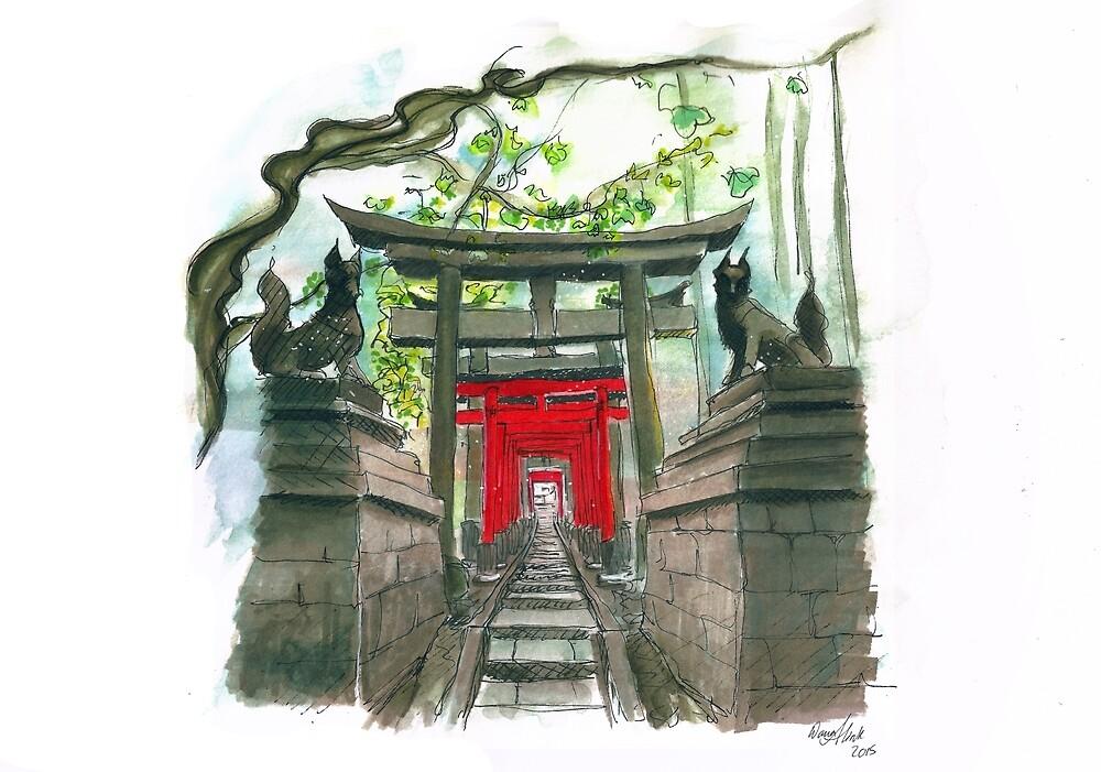 Japanese shrine by Kaizoku-hime