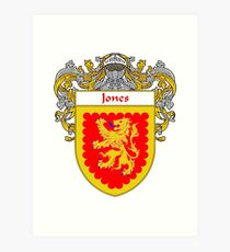 Jones Irish Coat of Arms/Family Crest Art Print