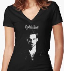 Captain Hook - Killian Jones Women's Fitted V-Neck T-Shirt