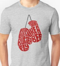 Float Like A Butterfly, Sting Like a Bee (Red) Unisex T-Shirt