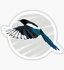A Beautiful British Magpie Sticker