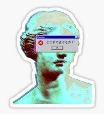 Vaporwave Blinded Sticker