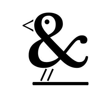 Ampersand Bird (black) by Endovert