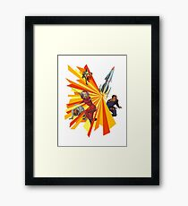 Pulp Science Fiction Framed Print