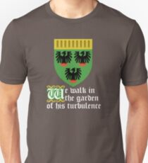 We walk in the garden of his turbulence (white) Unisex T-Shirt