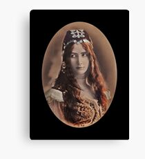 Antique Gypsy Girl Costume Canvas Print