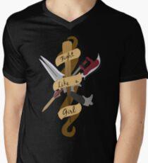 Fight Like A Girl V-Neck T-Shirt
