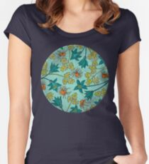 Alpine-Columbine bloom Pattern Women's Fitted Scoop T-Shirt