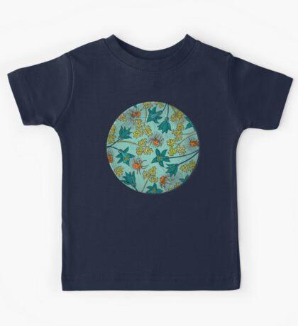 Alpine-Columbine bloom Pattern Kids Clothes