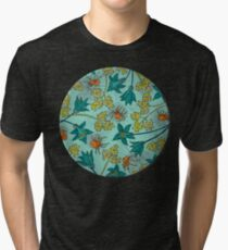 Alpine-Columbine bloom Pattern Tri-blend T-Shirt