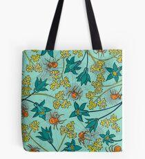 Alpine-Columbine bloom Pattern Tote Bag