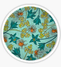 Alpine-Columbine bloom Pattern Sticker