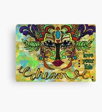 Life Dreams-Ceremonial Mask Canvas Print