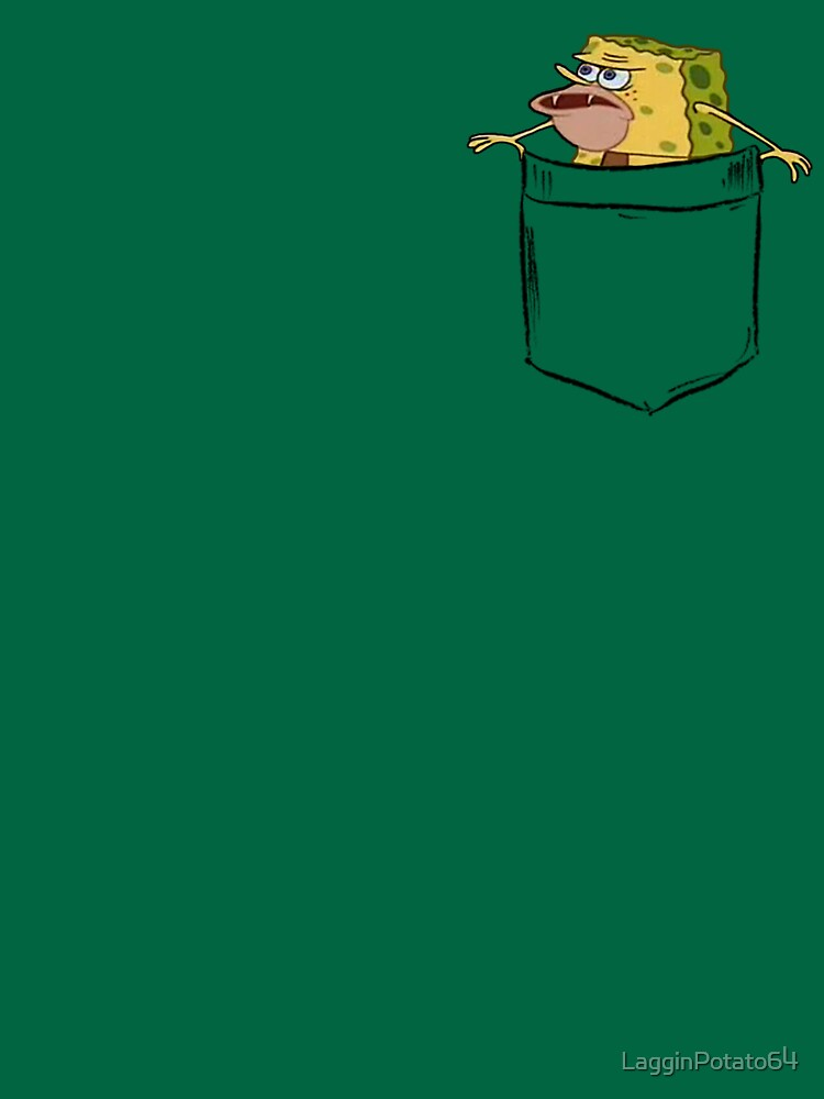 Caveman Spongebob (Primitive Spongegar) Taschenhemd - Spongebob von LagginPotato64
