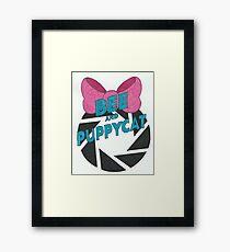 Bee and PortalCat Logo Framed Print