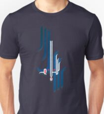 """the word: Peace in Arabic Calligraphy """"Salam"""" on blue Unisex T-Shirt"""