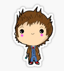 Kawaii Doctor Who Chibi (David Tennant) Glasgow Sticker