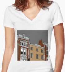 APARTMENTS Women's Fitted V-Neck T-Shirt