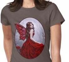 Winter Rose Butterfly Fairy Womens Fitted T-Shirt