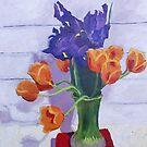 Tulips and Irises  by Cyndi Gonzalez